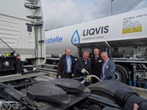Deutschlands erste öffentliche LNG-Tankstelle im GVZ Freienbrink eröffnet