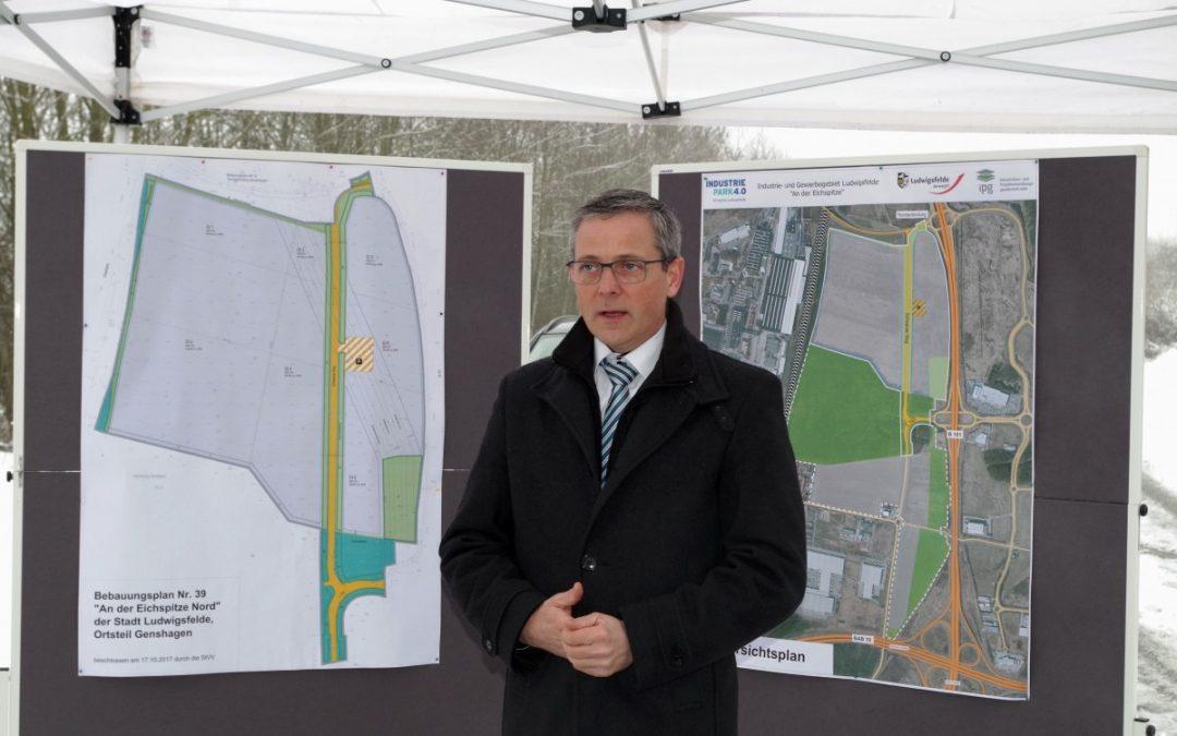 Baustart für die öffentliche Erschließung des Industriepark 4.0 Eichspitze Ludwigsfelde