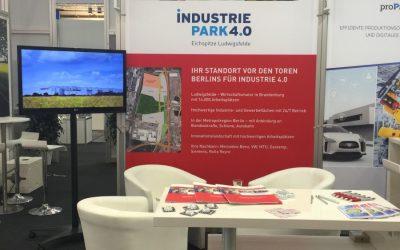 Der Industriepark 4.0 Eichspitze Ludwigsfelde präsentiert sich auf der Hannover Messe 2018