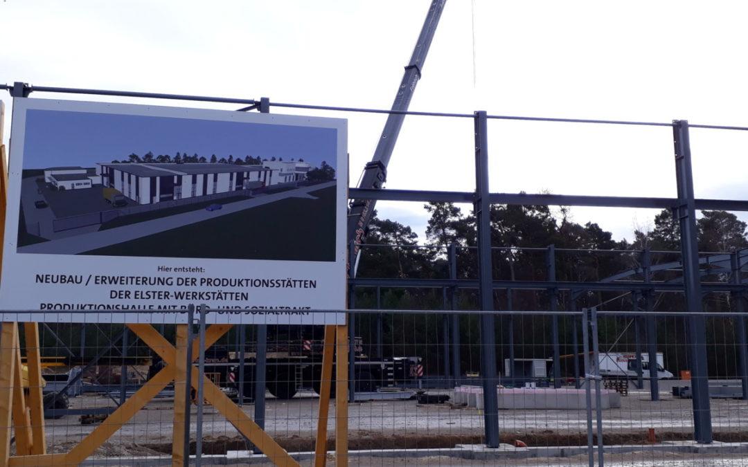 Elster-Werkstätten bauen neue Fertigungshalle im Industriepark West Ludwigsfelde