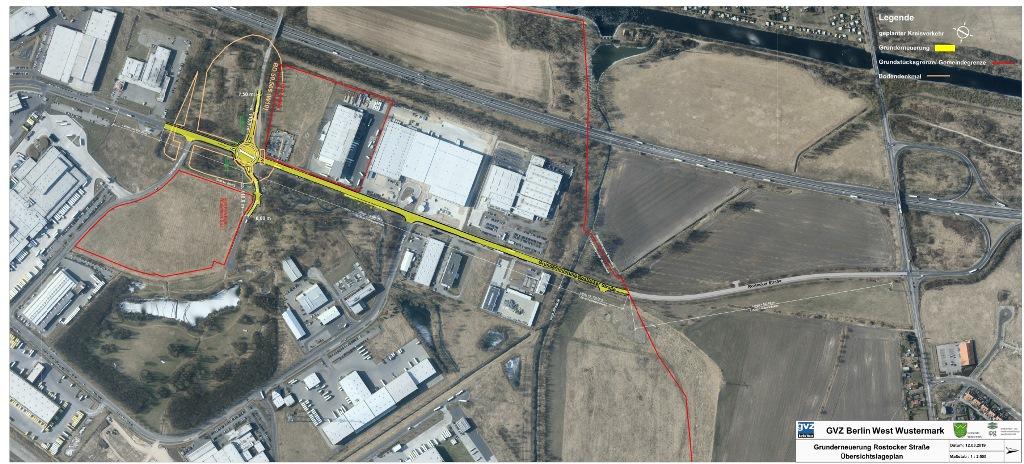 Hauptverkehrsachse im GVZ Berlin West Wustermark wird grunderneuert