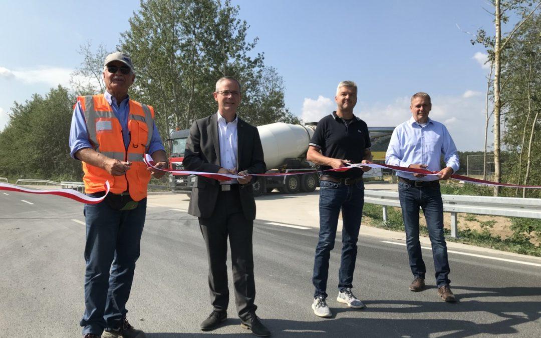 Entwicklung Industriepark 4.0 Eichspitze im Zeitplan – Freigabe des Schwarzen Weges nach 1,5 Jahren Bauzeit