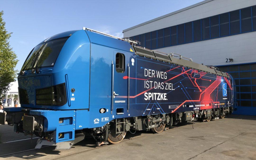 Besonderer Gast auf den Gleisanlagen im GVZ Berlin Süd Großbeeren