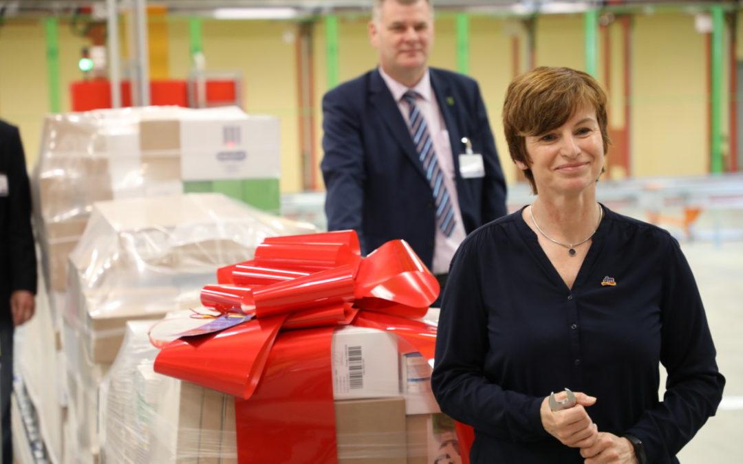 Start für Versorgung der dm-Märkte im Norden und Osten Deutschlands