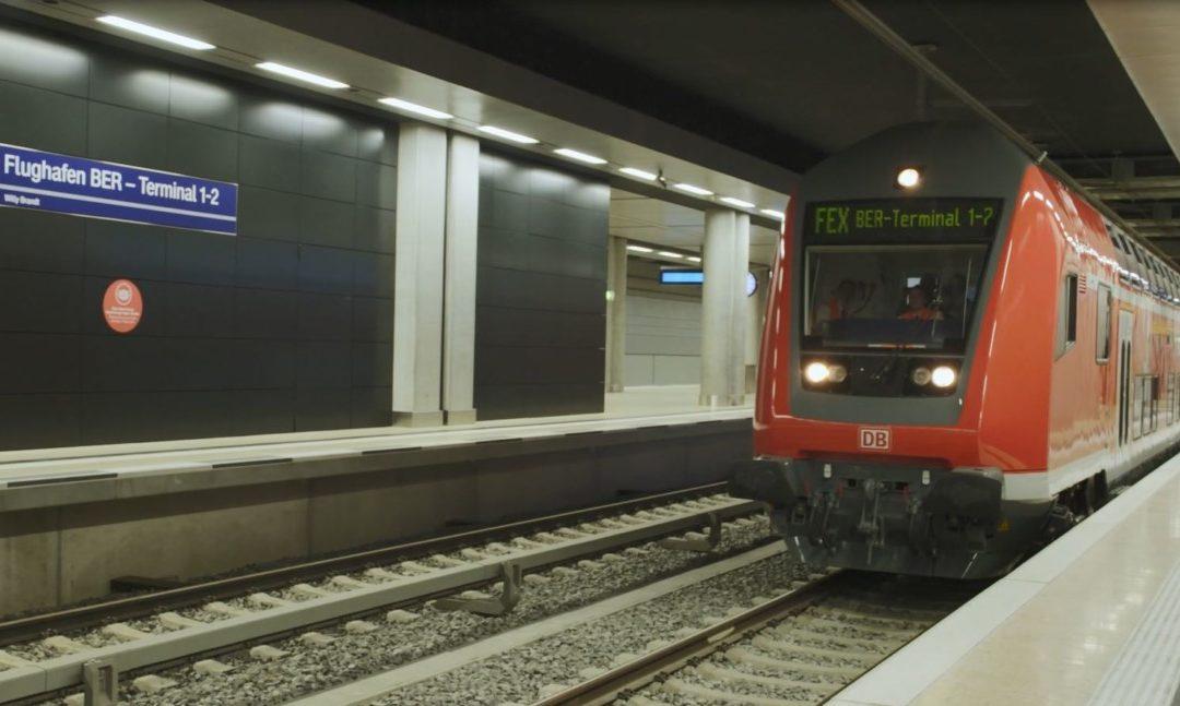 Flughafen BER nun mit der Bahn erreichbar