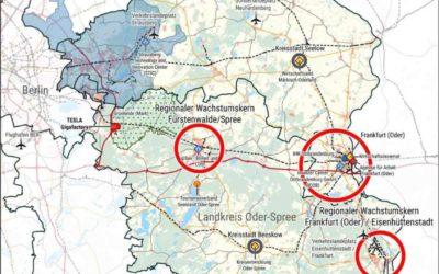 Regionalmanagement zur Unterstützung der TESLA-Umfeldentwicklung in der Region Oderland-Spree gestartet